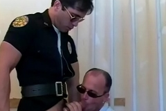 Sexy prisoner receives fucked constant wide of horny brace after sucking his dick