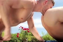 Broad-shouldered stud rimmed plus assfucked outdoors