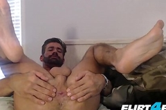 Brett Bigwig - Flirt4Free - Ingenuous Stump Plays with His Ass and Brute Cock