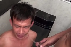 Gay twink pees over oriental