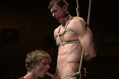 Bound gay cocksucked apart from Sadomasochism dominant