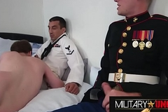 Military Uncovered Threesome