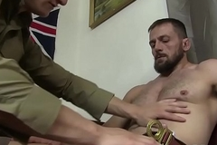 Young blond scout bareback away from helmsman after fellatio