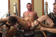 Bondage gay jerked by cumcontrolling dominant