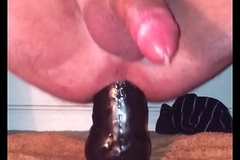 Cum on small dildo