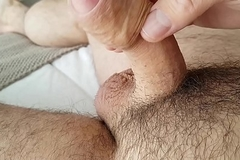 Amateur Masturbation Cumshot Executed Foreskin Big Cock