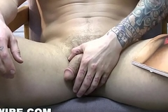 GAYWIRE - Ex Boyfriend Parker London Has Fly down on Sex While Jerking Off Far His Dorm Room